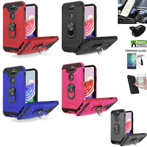 Phone Case For LG Risio 4 / Aristo 5 Case Shock absorbing Cover Ring Holder