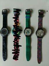LOT 3 Vintage Swatch Chronograph VINTAGE NEW