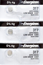 3 x Energizer 317 Watch Batteries, SR516SW Battery   Shipped from Canada