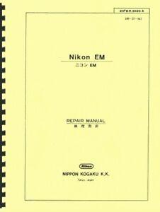 Nikon EM Service & Repair Manual Reprint: English & Japanese