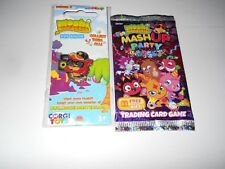 MOSHI MONSTERS BLINGO PIN BADGE NEW AND SEALED + 8 MASH UP PARTY TRADING CARDS