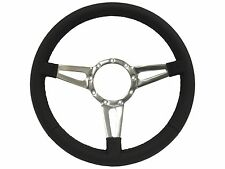 Volante S9 Series Premium Leather 9 Bolt Steering Wheel | Tri Spoke with Slots