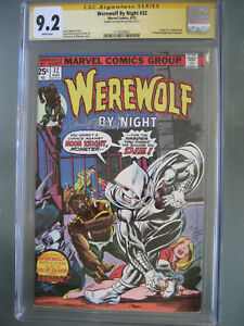 Werewolf by Night #32 CGC 9.2 SS **Signed Don Perlin** Origin & 1st Moon Knight