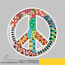 Hippie Vintage Peace Symbol Zentagl Vinyl Sticker Decal Window Car Van Bike 2784