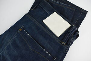 G-Star Raw Victor Straight Homme W36/L34 Décoloré Effet Bouton Fly Jean