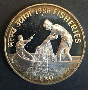 India - Silver 100 Rupees - 'FAO' - 1986 - Proof