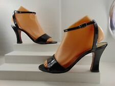 RUSSELL&BROMLEY~ High Heels Black Patent W/ Buckle Size 8 B (Made In Spain)!!!
