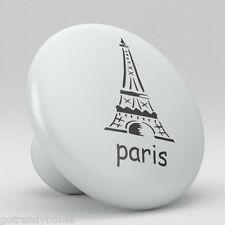 Paris Eiffel Tower Ceramic Knobs Pulls Kitchen Drawer Cabinet Vanity Closet 324