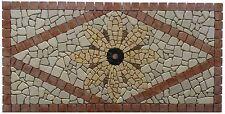 ''MARICA'' mosaici mosaico in marmo rosone fatto a mano su rete 80 x 40