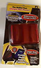 ATOMIC CHARGE WALLET ~ WALLET AND PHONE CHARGER IN ONE ~ BRAND NEW SEALED, RED