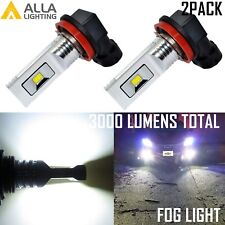 AllaLighting 3000LM H11 LED Driving Fog Light Bulb Replacement 6000K Xenon White