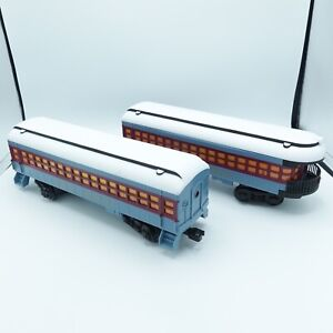 2 Lionel POLAR EXPRESS Ready To Play Passenger Car Train RTP New Add On 7-11803