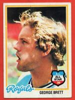 1978 Topps #100 George Brett VG-VGEX HOF Kansas City Royals FREE SHIPPING