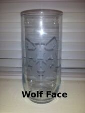 Etched Glassware - Wolf Face