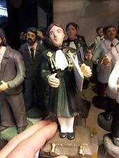 1 statuetta 10,12 CM TERRACOTTA  avvocato giudice pastori presepe shepherds crib