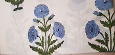 5 Yard India 100%Cotton Hand Block  Print Sanganeri Blue Color Rose Print Fabric