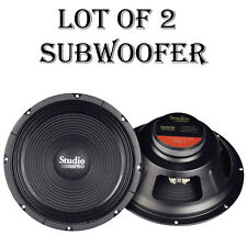 "LOT OF (2) NEW Pyramid WH12 12"" 500 Watt High Power Paper Cone 8 Ohm Subwoofer"