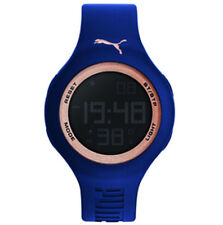 Puma Herrenuhr Loop One 44 PU910801045 navy rosegold Kautschuk Herzfrequenz