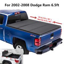 JDMSPEED Hard folding tonneau cover FIT FOR Dodge Ram 2002-2008 6.5ft Short Bed