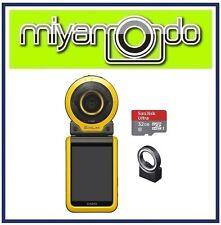 Casio Exilim FR100 Action Camera + Sandisk Ultra MicroSD 32GB + EAM-7 (Yellow)