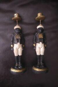 """Vintage Sterling Industries Butler Monkey Candle Stick Holders 11"""" Candelabra"""
