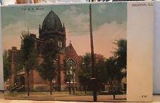 AB627 First M. E. Church Decatur Illinois IL Vintage PC