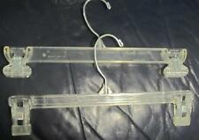 """75  PINCH GRIP 12"""" HANGERS FOR PANTS OR SKIRTS IN GOOD USED CONDITION"""