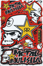 New Rockstar Energy Motocross Racing Graphic stickers/decals. 1 sheet (st193)