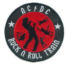 """""""ACDC Rock n Roll Train"""" punk Embroidery Iron on Patch"""