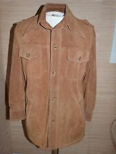 Lakeland Vintage Mens Soft Suede Leather  Shirt Jacket sz 40 Awesome Condition