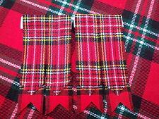 T.C Neuf paire Royal Stewart Tartan flashes pour CHAUSSETTES DE KILT / écossais