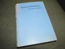 August Strindberg Historical Miniatures 1913 HB HC george allen 1st rare uk WOW!