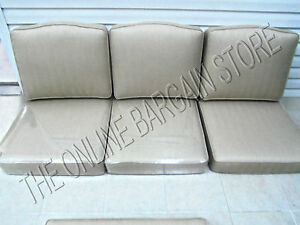 6 pc Frontgate Trax Wren Outdoor Patio Glen Isle Replacement Sofa Cushions 75x28