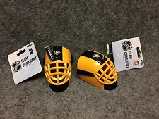(2) Forever NHL Pittsburgh Penguins Mini Goalie Helmet Mask Ornament NEW
