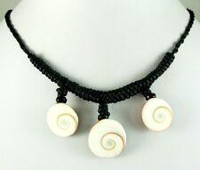 3! ELEGANT EYE OF SHIVA SHELL BEADS necklace ; BA092