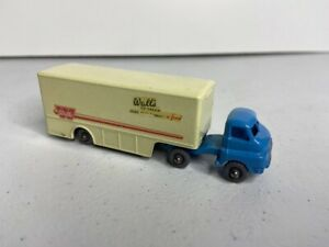 Vintage Lesney Matchbox Major Pack M-2-A Bedford Walls Ice Cream Gray Wheel 1957