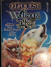 ELFQUEST Wolfsong/Blood of Ten Chiefs BOOK/NOVEL ~Wendy & Richard Pini 1988