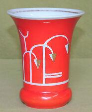 Orange Vase - Art Deco - 12 cm - JH&S Köppelsdorf  Handgemalt