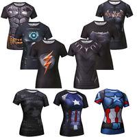 Lady Girls Compression Superhero Shirt Spider Man Dry Quick Bodybuilding T-shirt