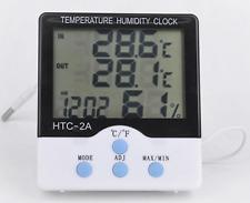 DIGITAL LCD THERMOMETER TEMPERATURE METER HUMIDITY CLOCK ROOM INDOOR OUDOOR