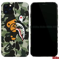 A Bathing Ape Bape Milo Camo Shark Cover Case For iPhone 11 Pro Max XS XR 8 SE