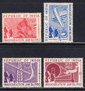 INDIA 1950 REPUBLIC SET OF 4 SCOTT #227-230 MLH