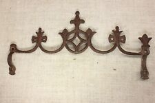 """old Widow's Walk architectural finial fence top rusty iron gothic 14"""" vintage"""