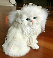 Realistic Lifelike Cat with Plush Rabbit Fur and Angel Wings - So Sweet!