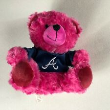 "Atlanta Braves Plush Bear Small 8"" Stuffed Pink Shirt Jersey Teddy Baseball Toy"