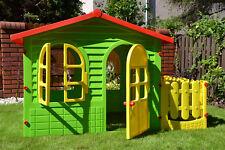 Duży domek ogrodowy dla dzieci z płotkiem MOCHTOYS 10498