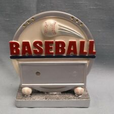 Baseball round full color resin award silver and white