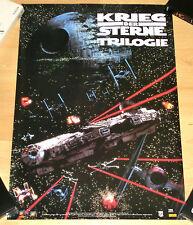 Star Wars Trilogía: THX póster Falcon Scene de 1995-Germany-raras