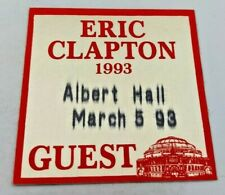 More details for 1993 eric clapton at the albert hall genuine guest pass