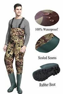 Cleated Fishing Hunting 2-Ply Nylon/PVC Waterproof Boot Chest Wader Camo 11